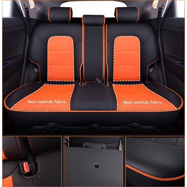 Funda para asiento de coche de cuero de vaca para hyundai i20 i30 i40 ix 25 ix 35 ix25 bandeja creta ix35 grand tucson Accesorios