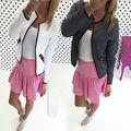 2016 Супер Горячая Мода Повседневная Женщины Тонкий Бизнес Высокое Качество Пиджак И Пиджаки Куртки Пальто Полупальто
