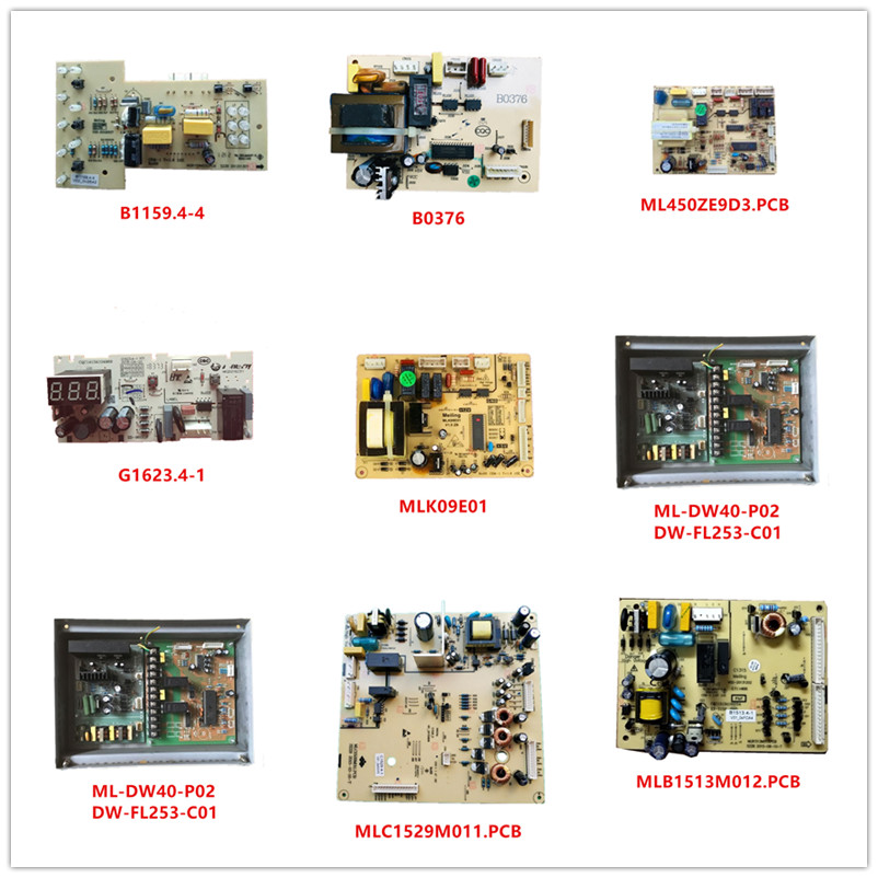 B1159.4-4| B0376| ML450ZE9D3.PCB| G1623.4-1| MLK09E01| ML-DW40-P02| DW-FL253-C01| MLC1529M011.PCB| MLB1513M012.PCB Used Working