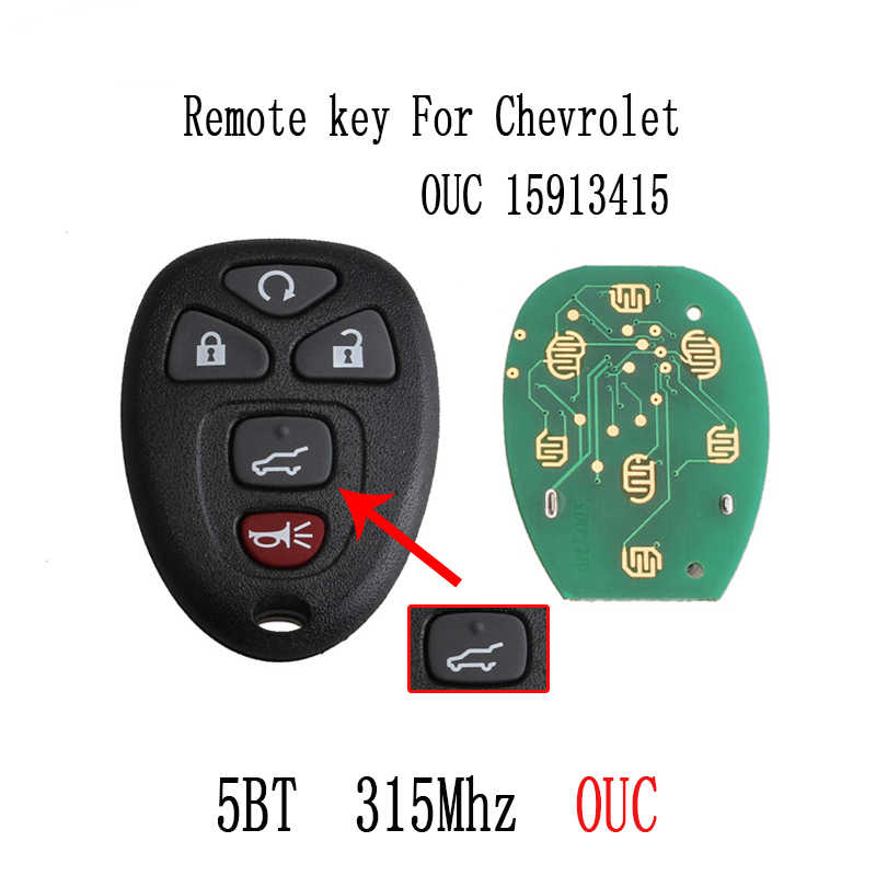 6Buttons Remote Keyless key For Chrysler M3N5WY783X 433 8Mhz