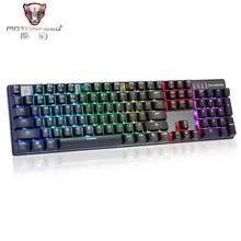 MOTOSPEED Inflictor CK104 NKRO RGB Backlit Mechanical Gaming Keyboard Outemu Blue Switch Game Keyboard все цены
