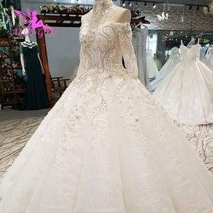 Image 2 - AIJINGYU Wedding Dresses India Slim Gowns female Online Long Train Gown Pearl Dress Floor Length