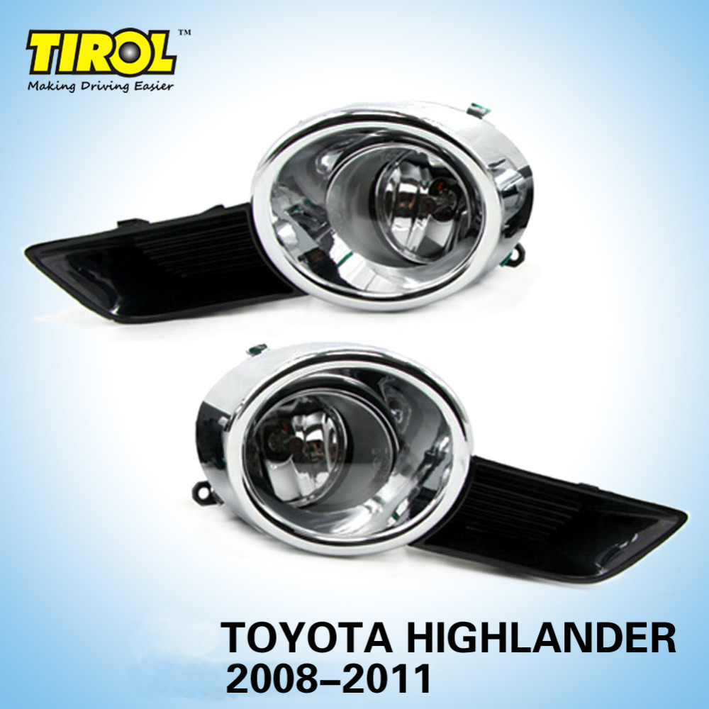 Tirol T21766a Fog Lamp Kit Oem Replacement For Toyota Highlander 2011 Wiring Harness 2008 Pickup Truck Smoke Front Bumper Pair Free Shipping In Car Headlight Bulbsled