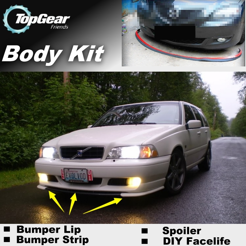 Bumper Lip Deflector Lips For Volvo V70 XC70 Front Spoiler Skirt For TopGear Fans Car Tuning / Body Kit / Strip car window curtains legal
