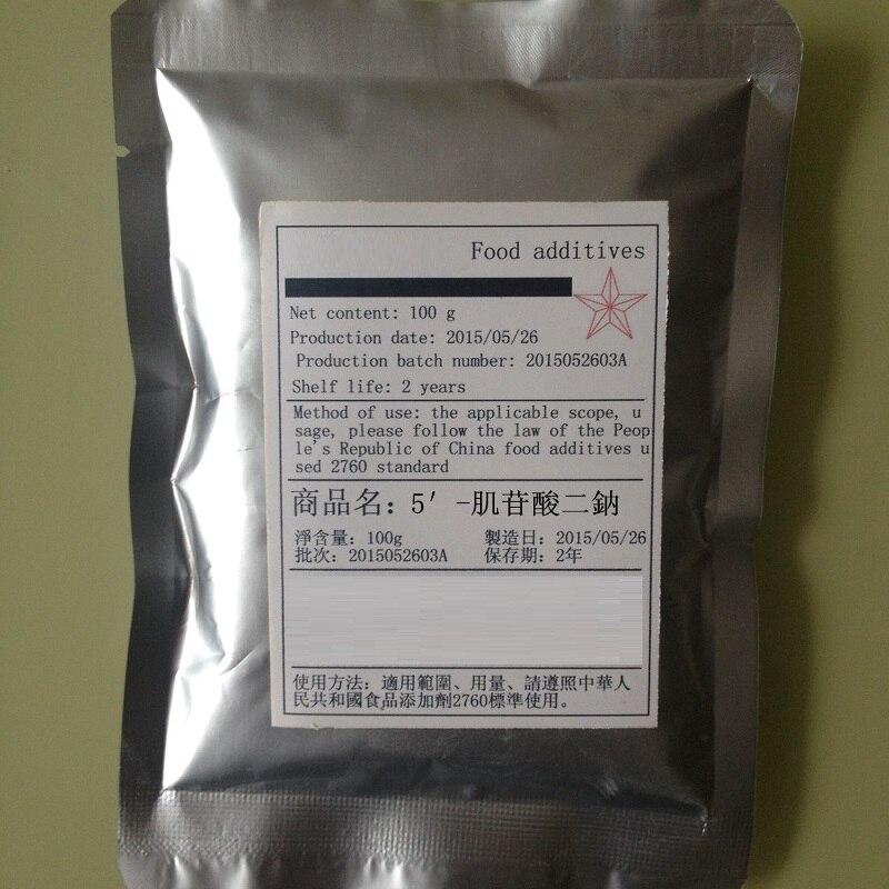 100g Disodium 5'-Inosinate IMP-5/IMP 2NA USA imported flavoring agent 100g vitamin e food grade usa imported