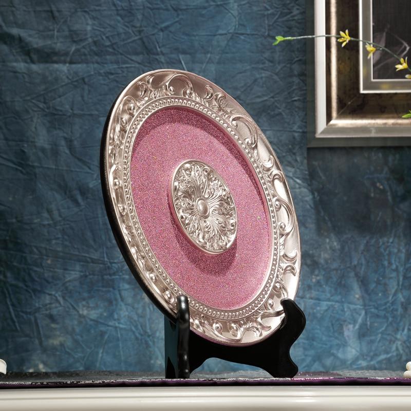 decorative circular plate resin crafts decoration fashion ornaments ...