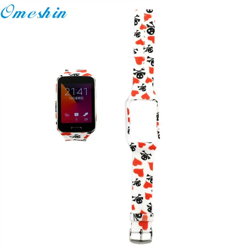 OMESHIN SimpleStone Replacement Watch Wrist Strap Wristband for Samsung Galaxy Gear S R750 June20