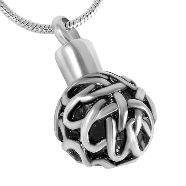 Knot Sphere Urn Necklace