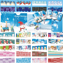 48 Designs/Lot Christmas Nail Art Stickers Snowflake/Santa Tree/Snowman Cartoons Decals Set TRBN205-252