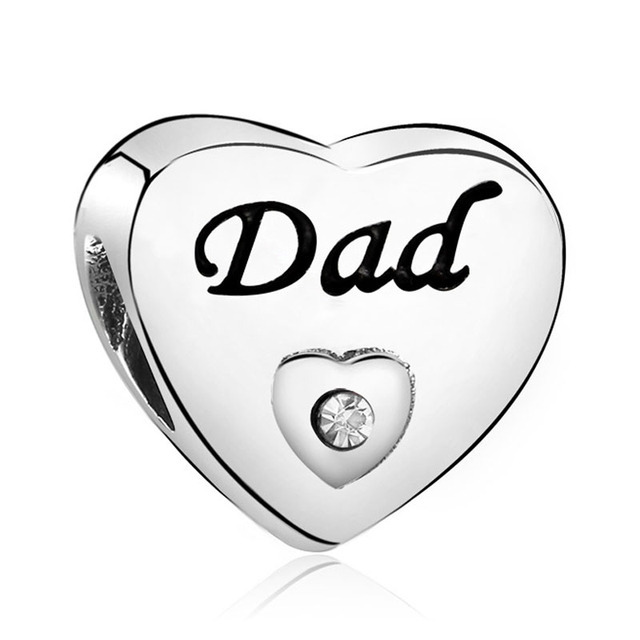 New Arrival Heart Bridesmaid DAD DAUGHTER BEST FRIENDS Bow Beads Fit Original Pandora Charm Bracelets & Bangles DIY Jewelry 1