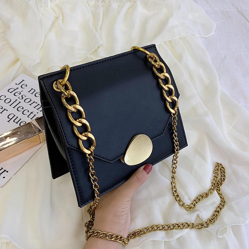 Leather Chain Bag Ladies