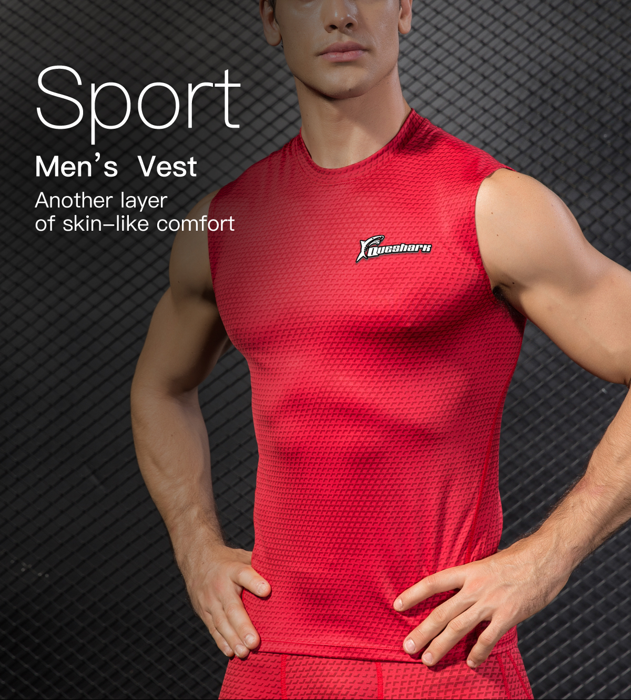 c2fe576d56e9cb Queshark Professional Men Compression Tank Top Quick Dry Sleeveless T Shirts  Jogging Fitness Workout Sportswear Snake Print Top