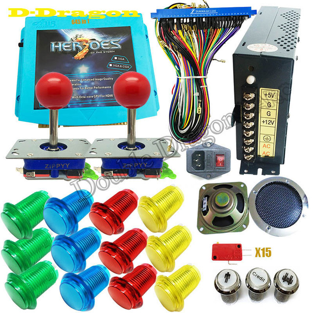 DIY arcade cabinet kit pandora heroes storm 645 in 1 game board arcade PCB joystick LED_640x640 aliexpress com buy diy arcade cabinet kit pandora heroes storm Off-Road Light Wiring Harness at crackthecode.co