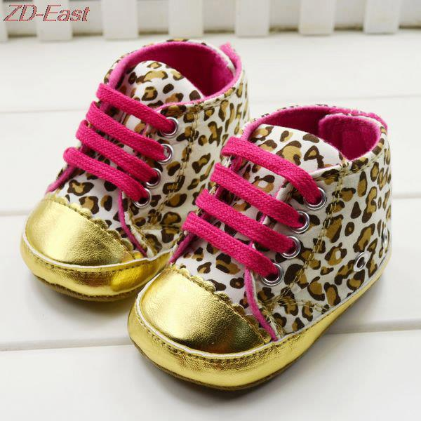 2016 Girls Baby Shoes baby Cack Leopard first walker kids prewalker shoes girls bowtie toddler shoes Lace-up Cute Kids