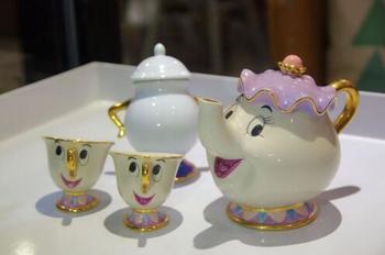 Ограниченная серия кружек для чая с героями мультфильмов «Красавица и Чудовище», фарфоровый чайный набор «Миссис Поттс» и «чипсы», чайный ч...