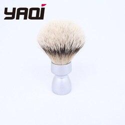 Cepillo de afeitado de tejón de Punta plateada con mango de Metal pesado de Yaqi para hombres