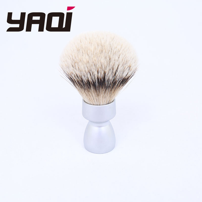 Yaqi Heavy Metal Handle Silvertip Badger Hair Shave Brush For Men Shaving