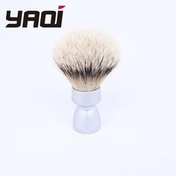Yaqi Heavy Metal Handle Silvertip brocha de afeitar para hombres