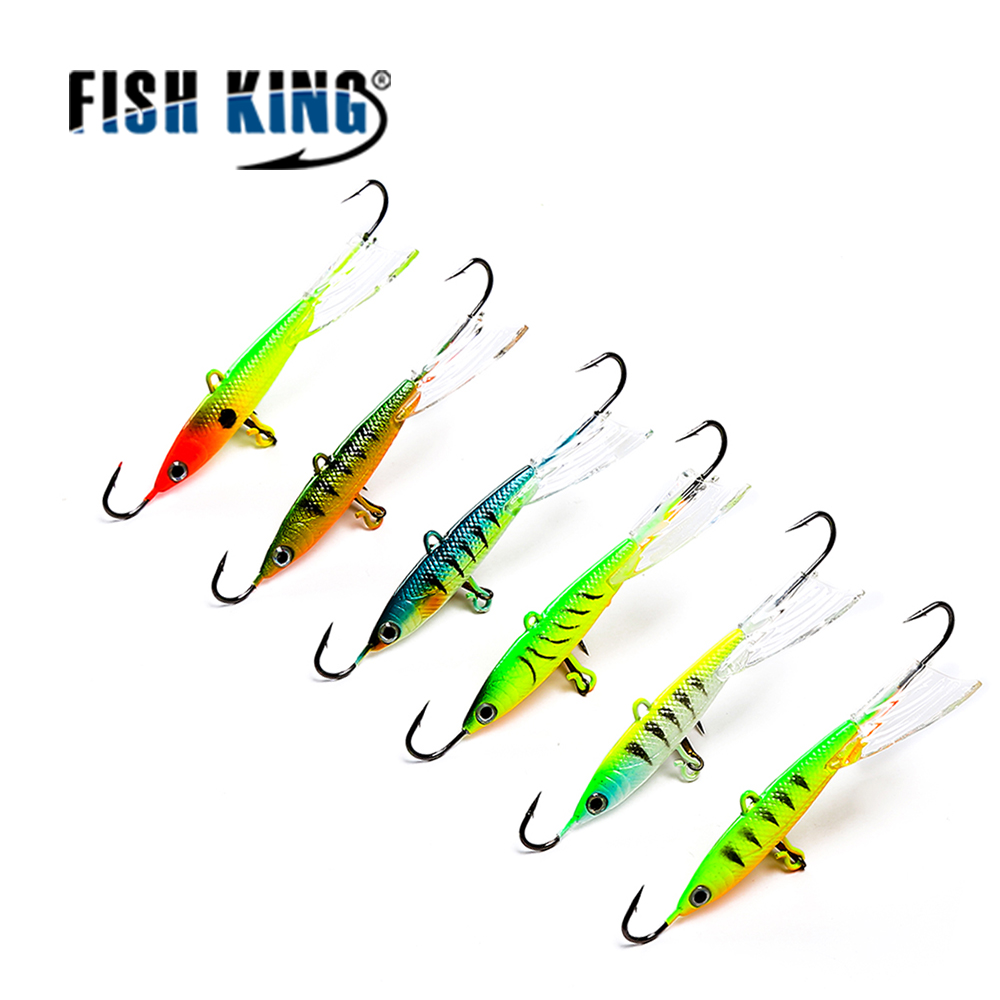 FISH KING 1PC 25G/9.3CM Balancer Winter Fishing Lure Ice Fishing Jig Bait BASS /Pike Fishing hooks Lead Hard Lure 10# Red hook рыболовный поплавок night fishing king 1012100014 mr 002