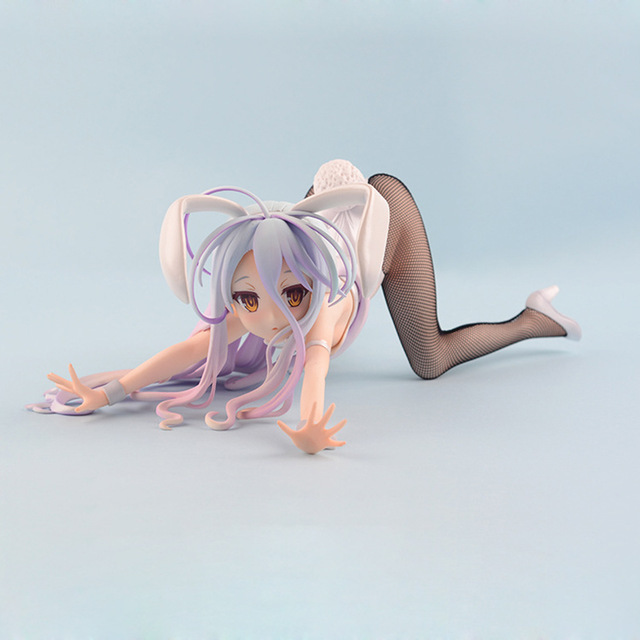 New No Game No Life Shiro Sexy PVC Action Figure 1/4 scale painted figure Bunny Ver. Toy Gifts no retail box (Chinese Version) 4