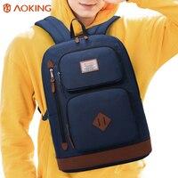 Aoking New Designed Brand Girls Boys Urban Backpack Double Pockets Women Backpack Quality Fashion Men Korean