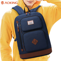 Aoking New Designed Brand Girls Boys Urban Backpack Double Pockets Women Backpack Quality Fashion Men Korean