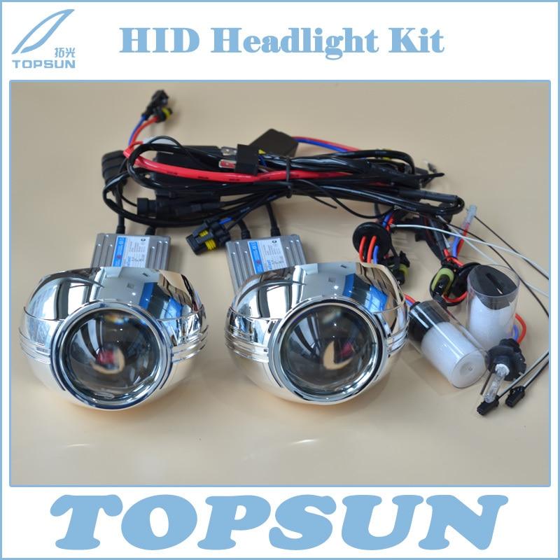 купить Free Shipping H4 Projector Lens 3 Inch Q5 Koito Bixenon,with 35W Cnlight HID Xenon Bulb D2H, Ballast, shroud and Control Wire недорого