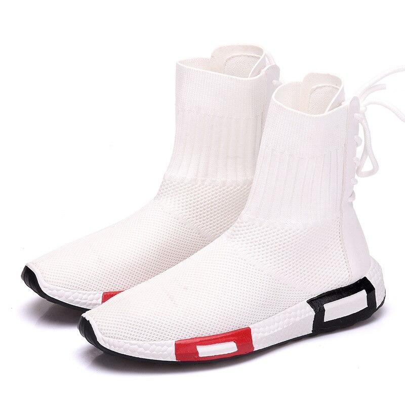 2019 Printemps À Rond Décontractées Air De 3540 Noir Pour Bracelet Taille Femmes Bout Mesh Noir Mocassins Cheville automne Blanc blanc Base Plats Solide Lacets Chaussures PwOk8n0