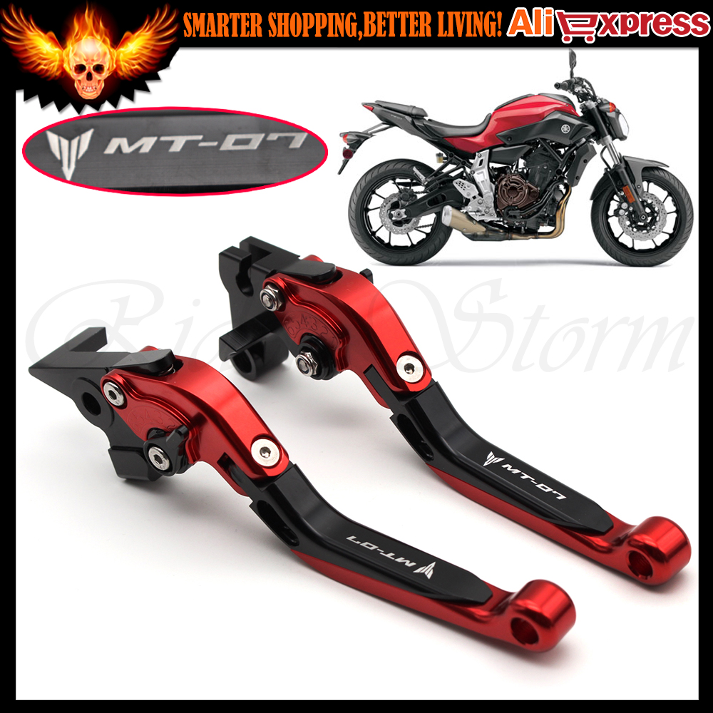 Folding Extendable CNC Billet Aluminum Motorcycle Adjustable Brake Clutch Levers For YAMAHA MT07 FZ07 MT-07 FZ-07 2014-2015 billet alu folding adjustable brake clutch levers for motoguzzi griso 850 breva 1100 norge 1200 06 2013 07 08 1200 sport stelvio