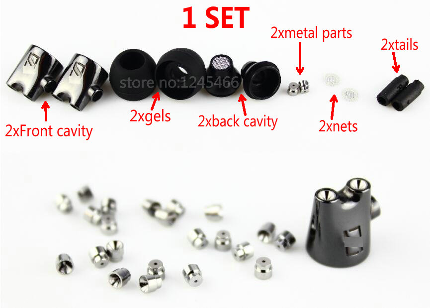 MLLSE 5Sets High Quality DIY Repair Earphone Shell Cover Replacement Accessories For IE800 Hifi Headset Earbuds