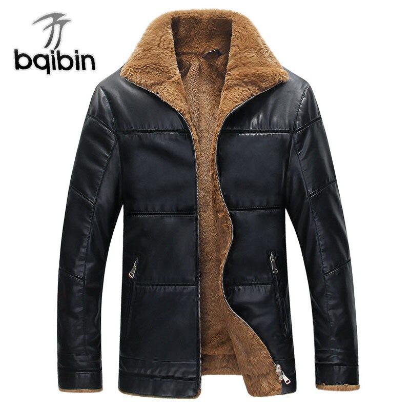 Зимние кожаные куртки Для мужчин теплая ветрозащитная верхняя одежда ягненка меховой воротник Для мужчин s Кожаные куртки и пальто 6XL плюс Р...