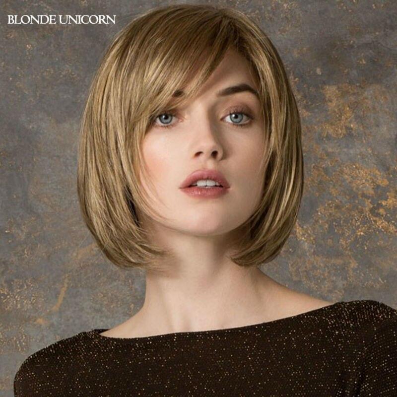 Blonde Unicorn Classic Bob Wigs Short Human Hair Wigs For Women