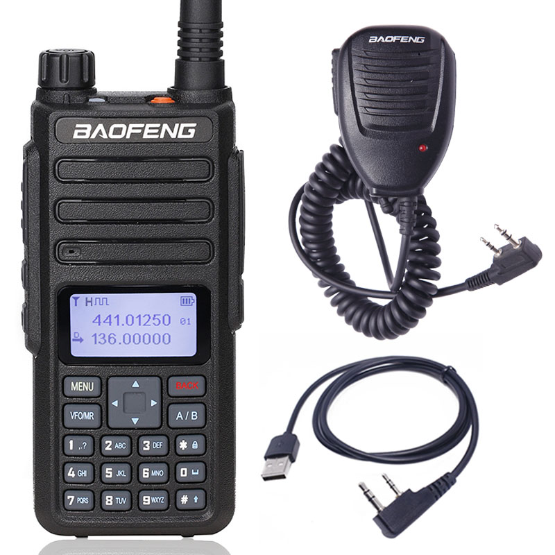Baofeng DM-860 Walkie Talkie Dual Band Dual Time Slot DMR Digital/Analog 136-174/400-470MHz 1024 Channels DM-1801 Ham 2Way Radio