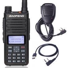 Baofeng DM 860 talkie walkie double bande double fente horaire DMR numérique/analogique 136 174/400 470MHz 1024 canaux DM 1801 Ham 2Way Radio