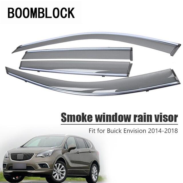 Pare-Vent et déflecteurs de soleil | 4 pièces de haute qualité pour Buick Envision 2018 2017 2016 2015 ABS, accessoires de protection