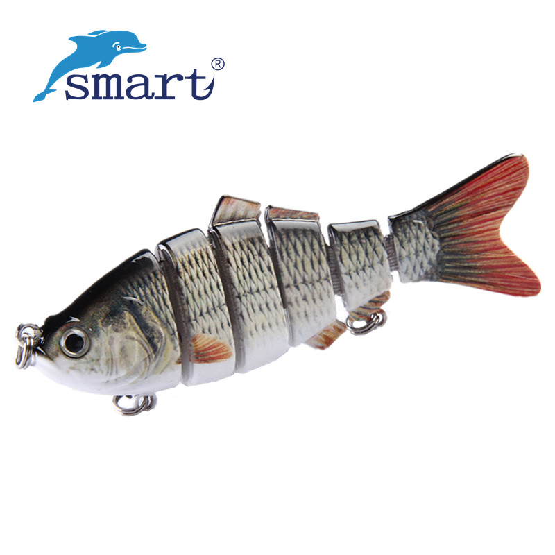 Smart 1 pc 97mm 20g 3D yeux 6 segments dur pêche Leurre Sabiki Pesca Leurre pêche Wobbler bateau appât Leurre Souple