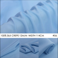SILK CREPE DE CHINE 114cm Width 12mm 100 Natural Mulberry Silk Fabric Apparel Sewing Fabric For