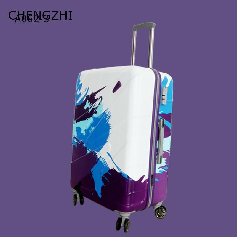 CHENGZHI 20 24 28inch waterdichte ABS + PC rolling bagage spinner trolley case reizen koffer op wielen - 2