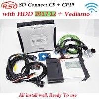 Royalstar HDD WiFi SD conectar C5 con portátil Toughbook cf-19 PC de diagnóstico con MB Star C5 software vediamo DTS M8 leer para trabajar