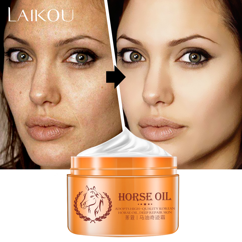LAIKOU Face Moisturizers, Moisturizing Cream For Oily Skin Anti-Freckle Cream Strong Whitening Horse Oil Facial Cream Dark Spot