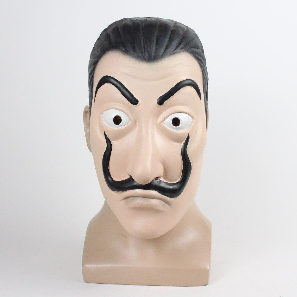 La casa de Papel Cosplay Terno Dinheiro Assalto Com Capuz Macacão Máscara Máscara Da Casa Casa de Impressão de CARTÕES de Papel Casa