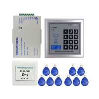 Brand New 125KHZ DIY RFID Door Access Control System Kit Set + Power Supply Control + Rfid Reader Code Keypad + Free Shipping