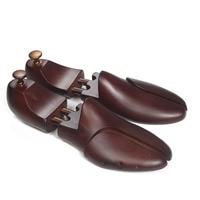 Men's Cedar Wood Shoe Trees Metal Knob Adjustable Shoe's Care Retro Brown Paint