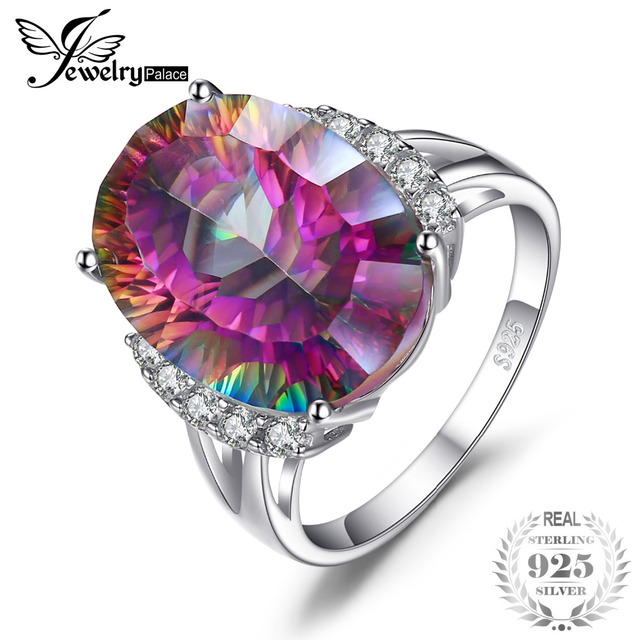 unusual topaz rainbow wedding set engagement rings mystic