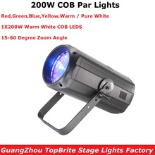 LED Par COB 200W Stage Lights Dj Washer Lighting Effects Professional Zoom For Club Party Disco