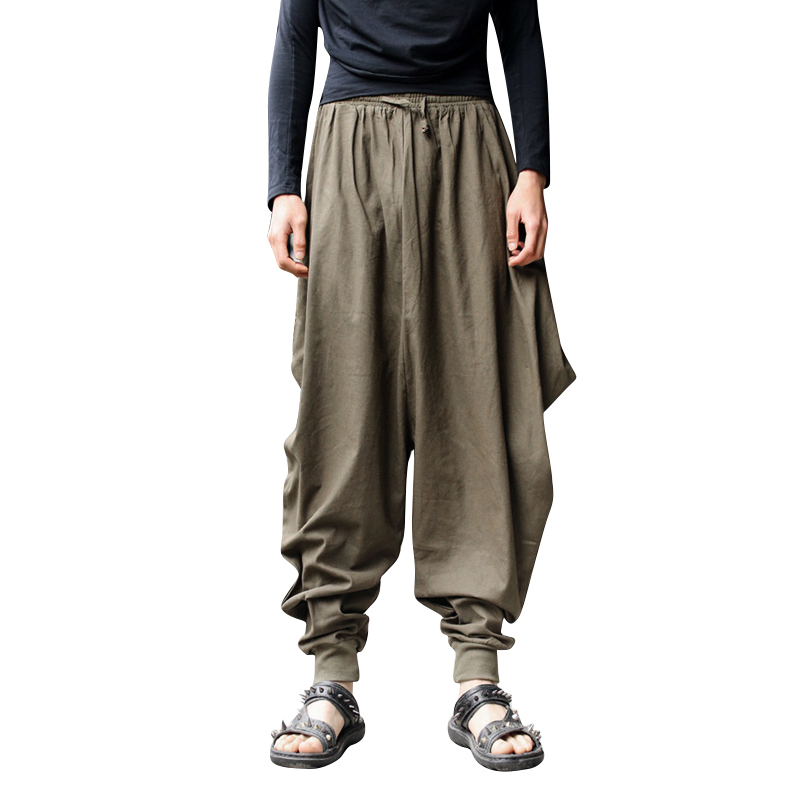 mens wide leg linen pants - Pi Pants