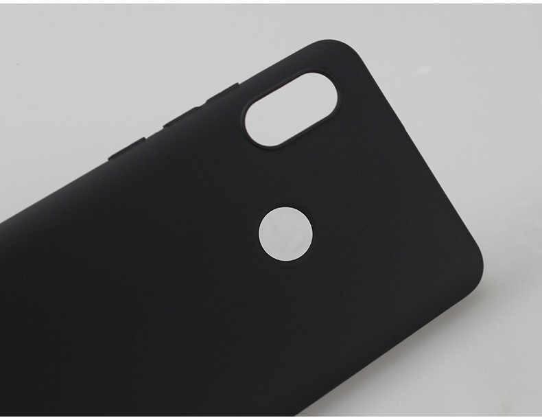 Hitam Ponsel Case untuk Xiao Mi Merah MI Catatan 6 5 Pro 5A Mi 8 Lite Mi A2 Lite 6X a1 5X Pocophone F1 S2 6 Pro 6A 5A 5 Plus Soft TPU Cover