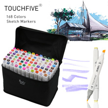 TouchFIVE 80 Colors Art Marker Set Alcohol Based Brush Pen Liner Dual Head Student Sketch Markers Drawing Manga Art Supplies