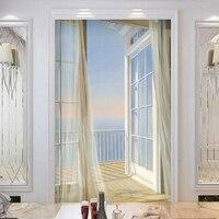 Custom Wallpaper 3D Expand Space Balcony Scenery Modern Creative Art Wall Mural Entrance Corridor Background Photo