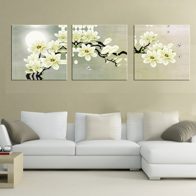3 Panel Wall Art Hd Print Canvas Prints Cuadros Decoracion Flores Cheap  Modern Paintings Modular Triptych